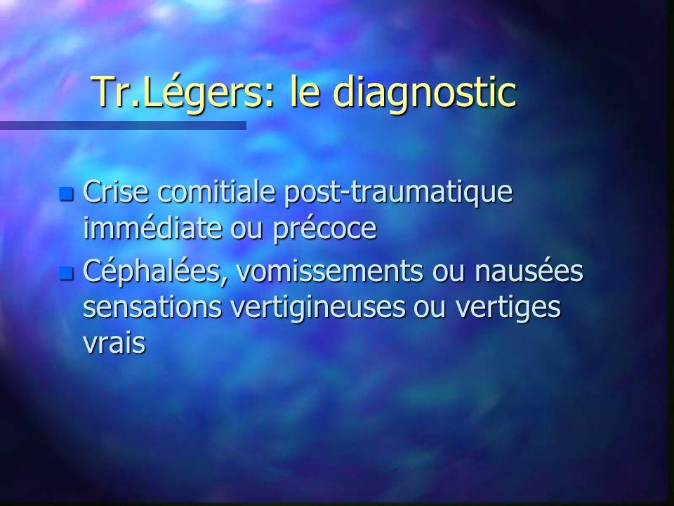 Tr.Légers: le diagnostic