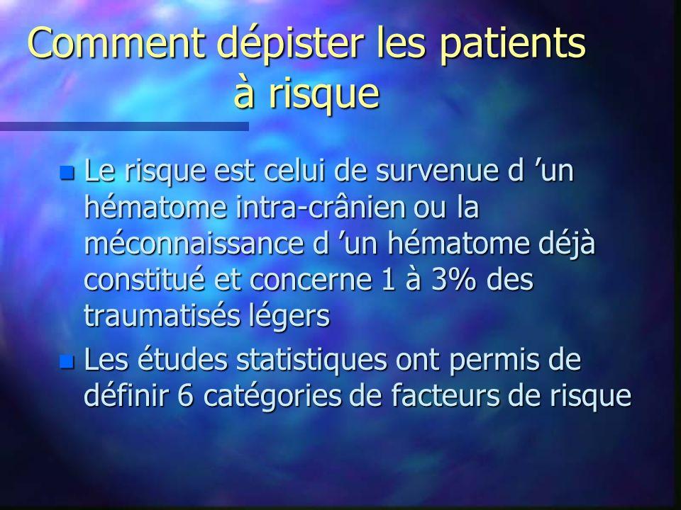 Comment dépister les patients à risque