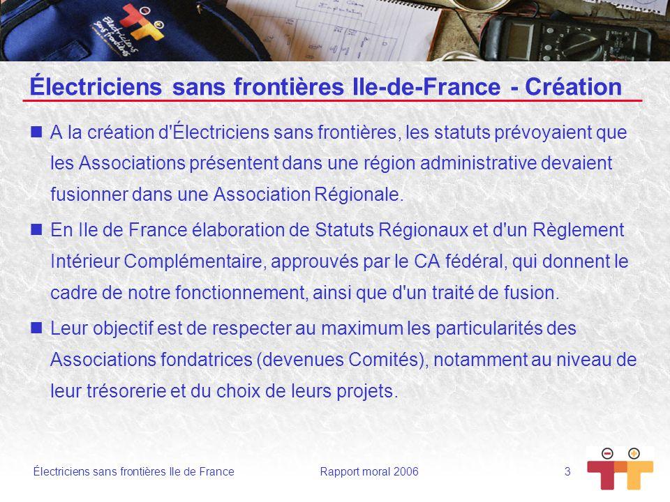 Électriciens sans frontières Ile-de-France - Création