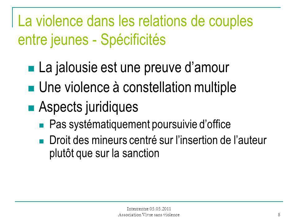 La violence dans les relations de couples entre jeunes - Spécificités