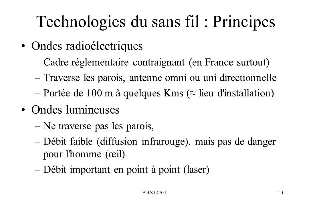 Technologies du sans fil : Principes