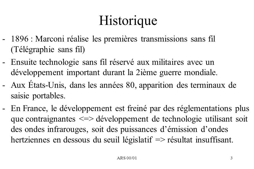 Historique 1896 : Marconi réalise les premières transmissions sans fil (Télégraphie sans fil)