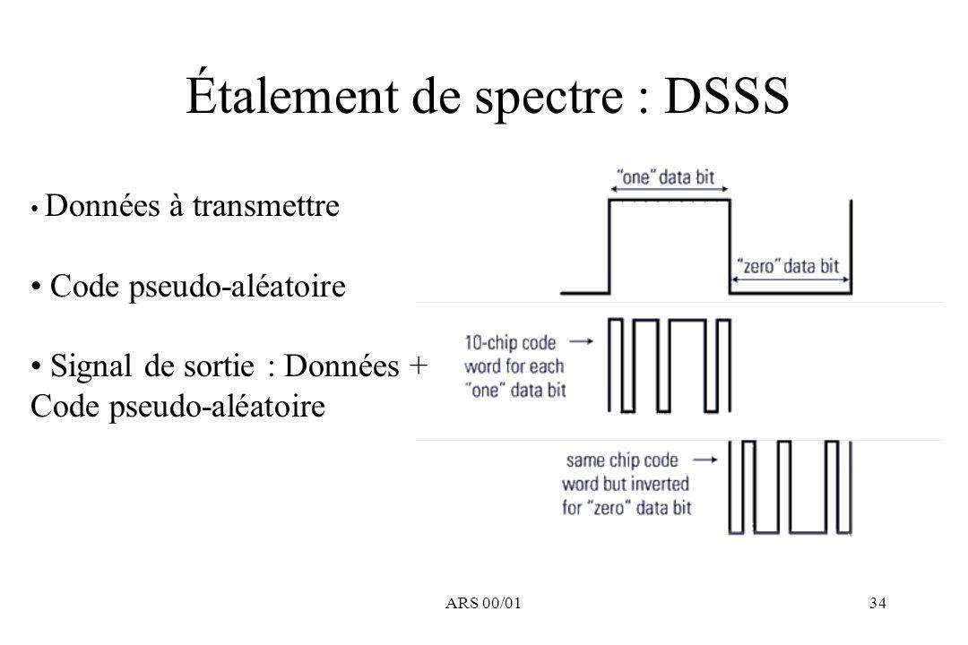 Étalement de spectre : DSSS