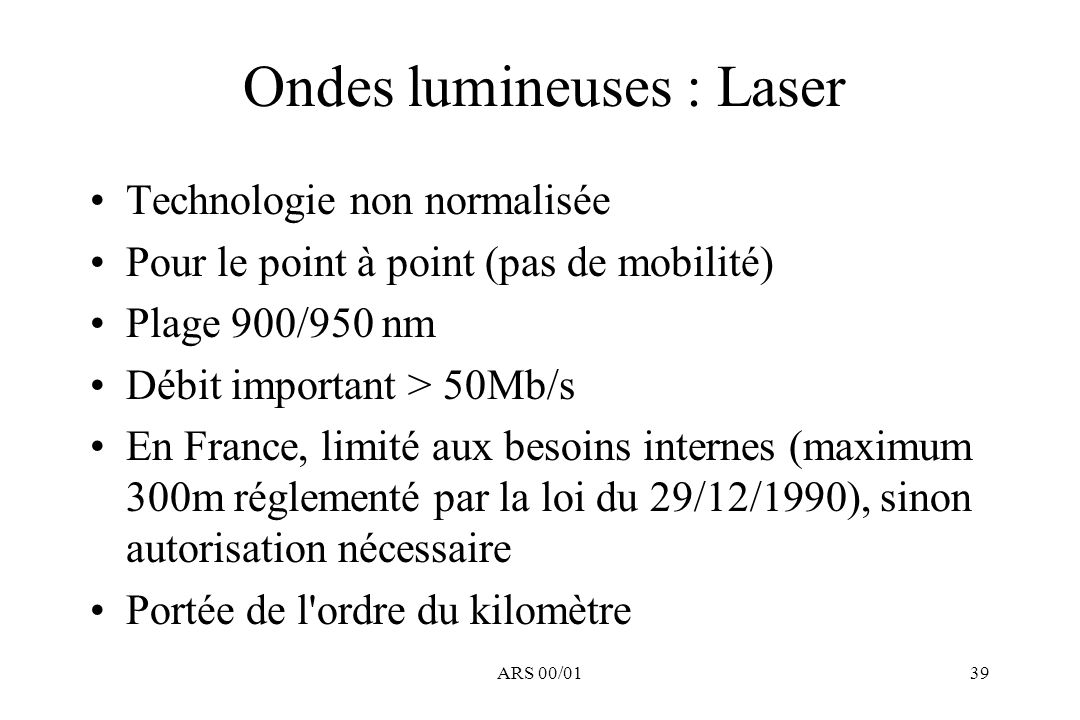 Ondes lumineuses : Laser