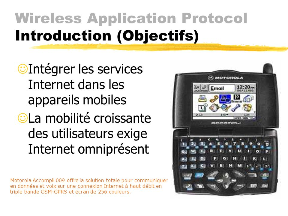 Wireless Application Protocol Introduction (Objectifs)