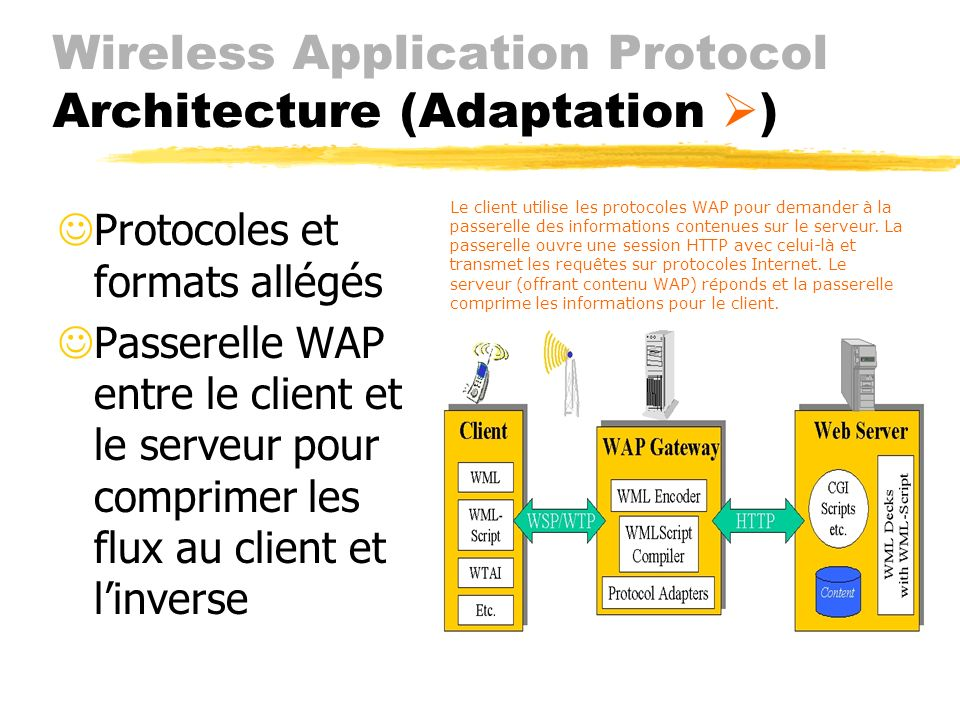 Wireless Application Protocol Architecture (Adaptation )