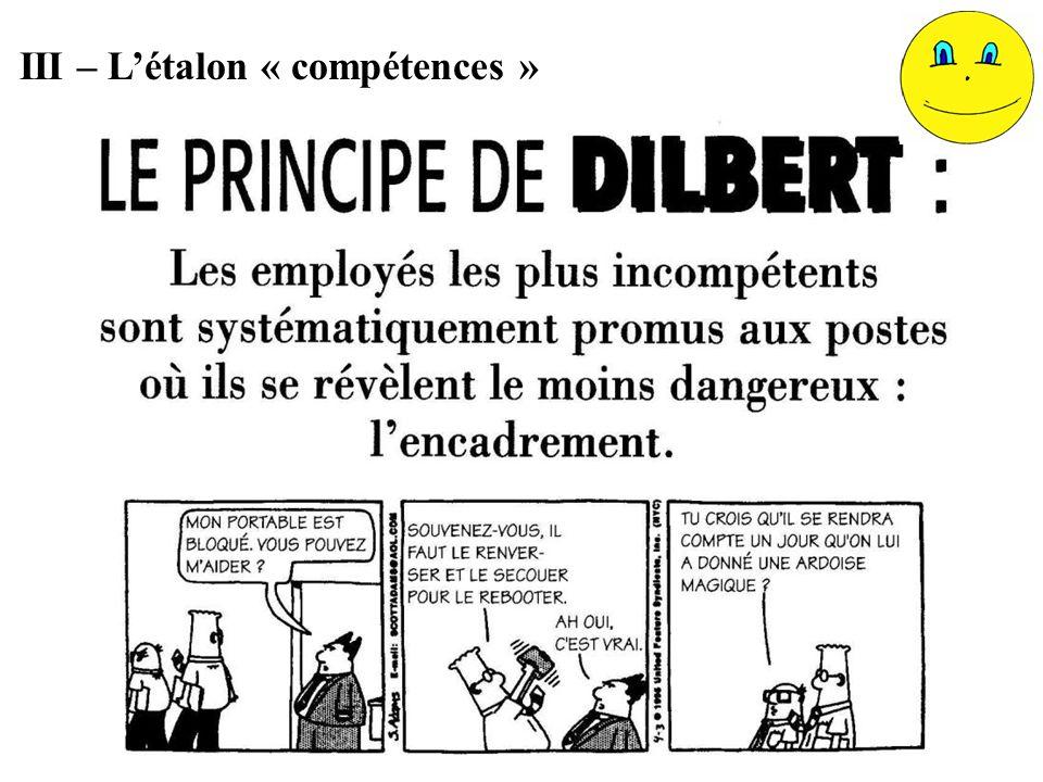 III – L'étalon « compétences »