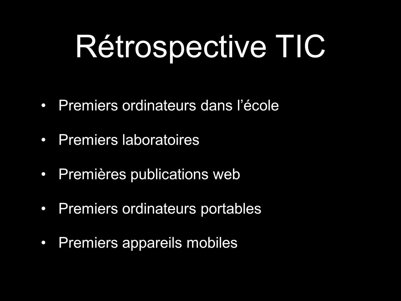 Rétrospective TIC Premiers ordinateurs dans l'école