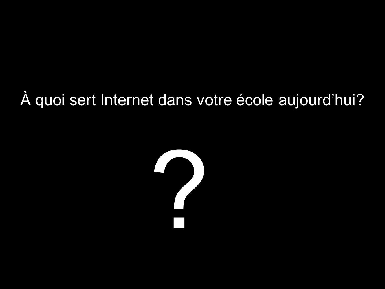 À quoi sert Internet dans votre école aujourd'hui