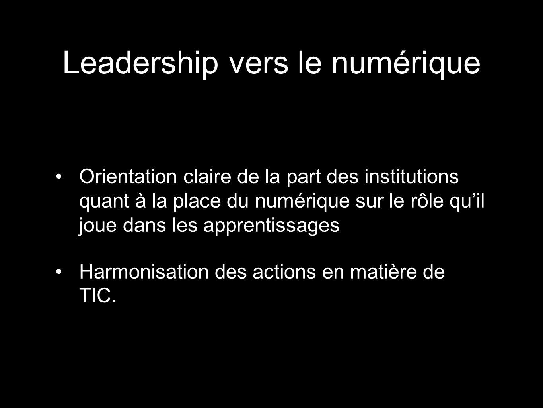 Leadership vers le numérique