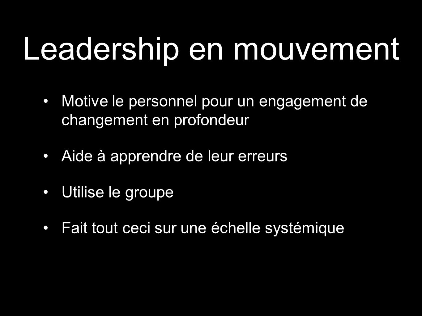 Leadership en mouvement