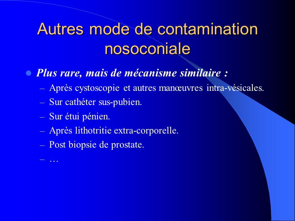 Autres mode de contamination nosoconiale