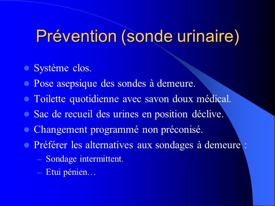 Prévention (sonde urinaire)