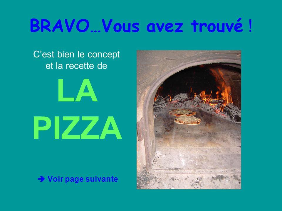 BRAVO…Vous avez trouvé !