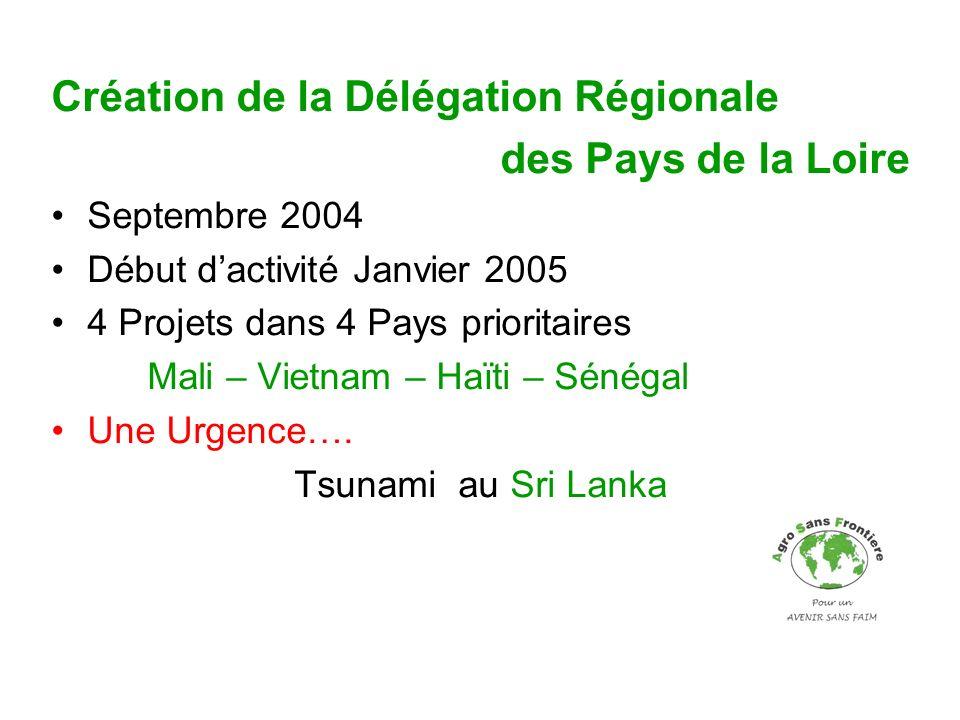 Création de la Délégation Régionale des Pays de la Loire