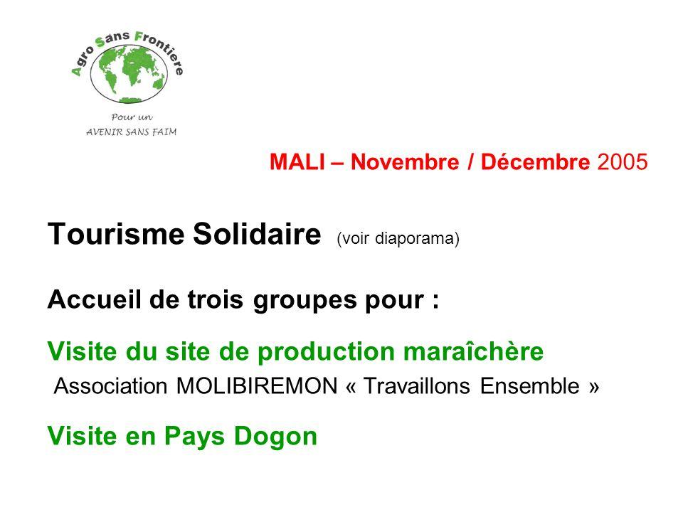 Tourisme Solidaire (voir diaporama)