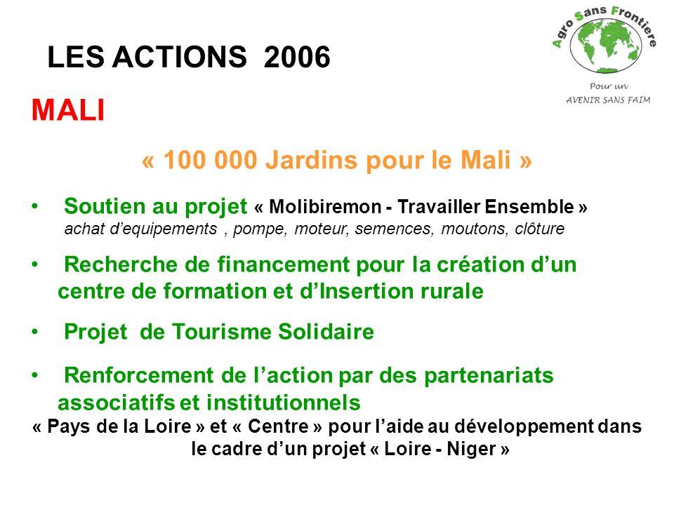 LES ACTIONS 2006 MALI « 100 000 Jardins pour le Mali »