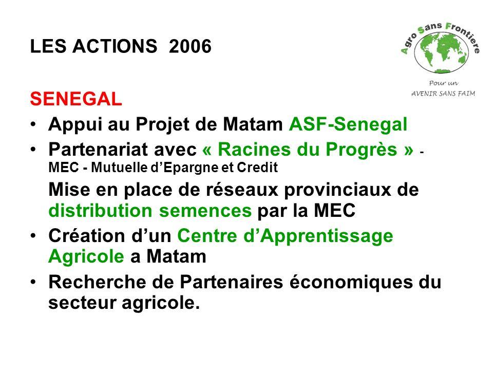 Appui au Projet de Matam ASF-Senegal