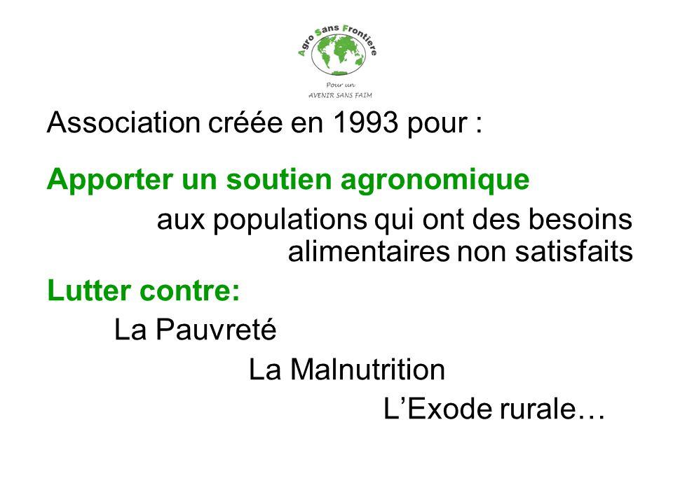 Association créée en 1993 pour :