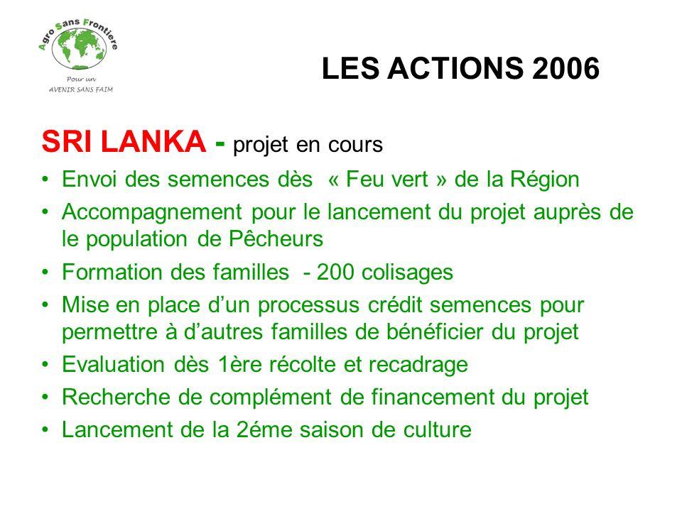 SRI LANKA - projet en cours
