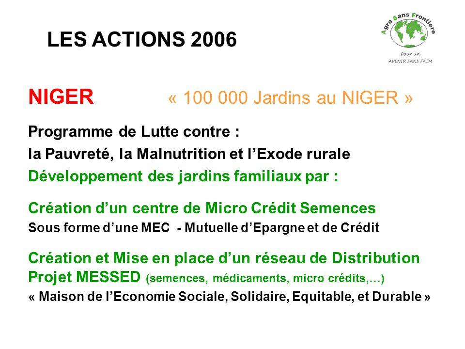 NIGER « 100 000 Jardins au NIGER »