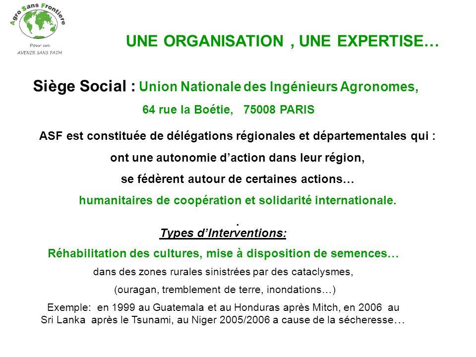 UNE ORGANISATION , UNE EXPERTISE…