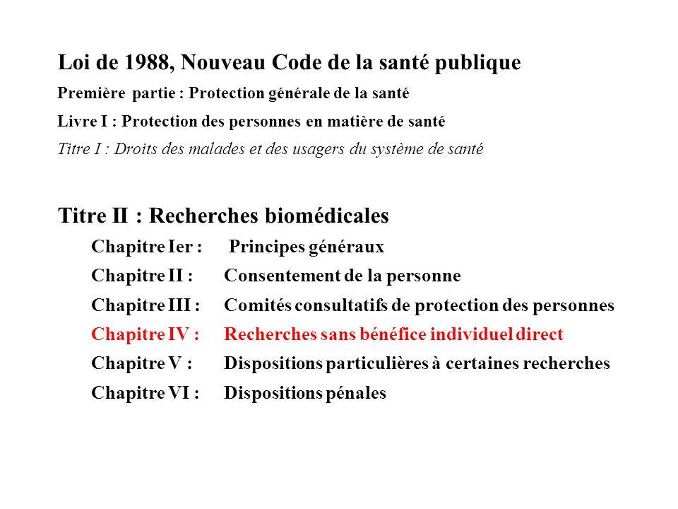 Loi de 1988, Nouveau Code de la santé publique
