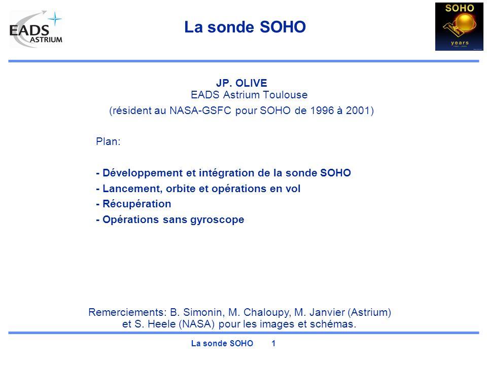 La sonde SOHO JP. OLIVE EADS Astrium Toulouse