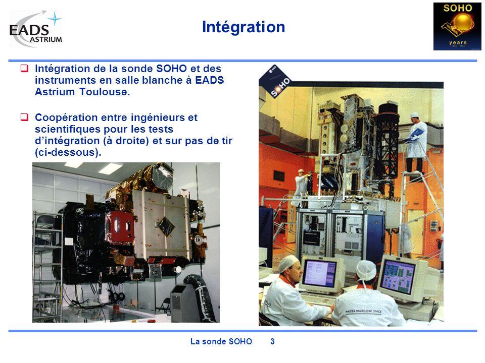 Intégration Intégration de la sonde SOHO et des instruments en salle blanche à EADS Astrium Toulouse.