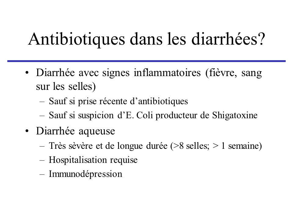 Antibiotiques dans les diarrhées