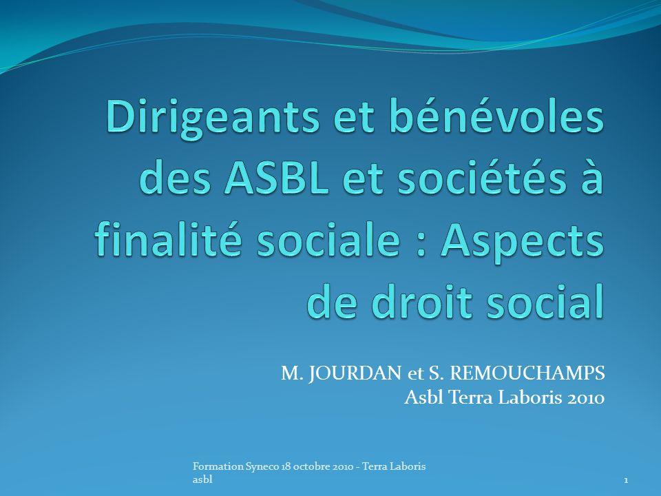 M. JOURDAN et S. REMOUCHAMPS Asbl Terra Laboris 2010