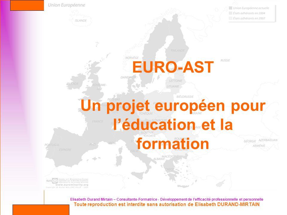 Un projet européen pour l'éducation et la formation