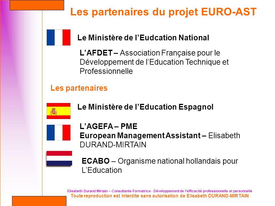 Les partenaires du projet EURO-AST