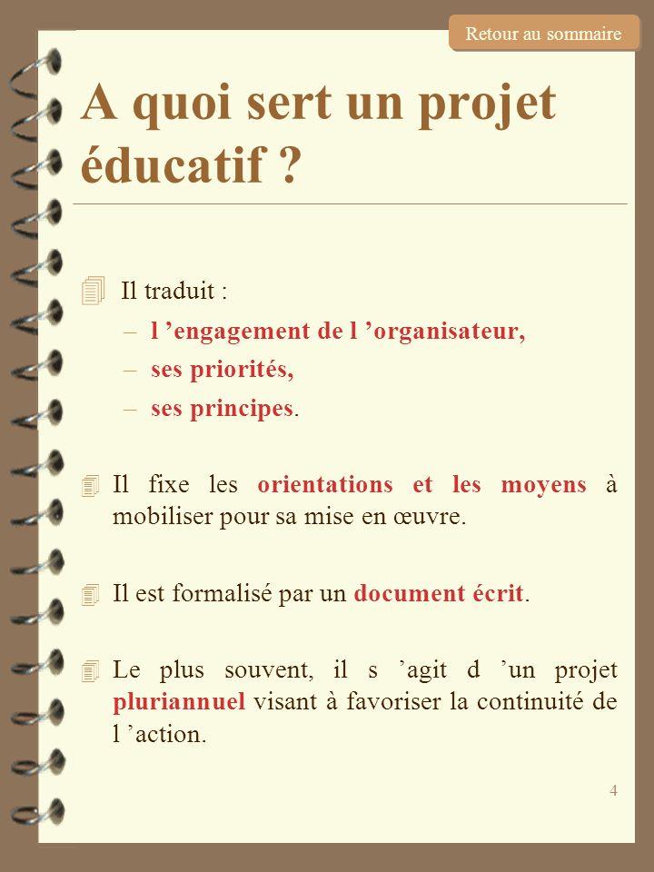 A quoi sert un projet éducatif