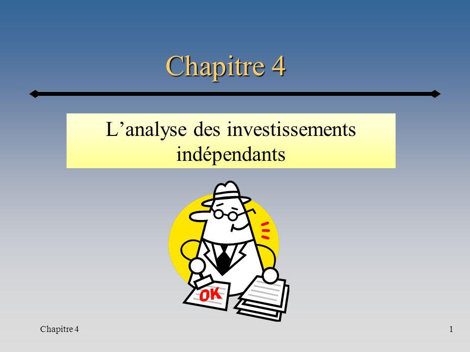 L'analyse des investissements indépendants