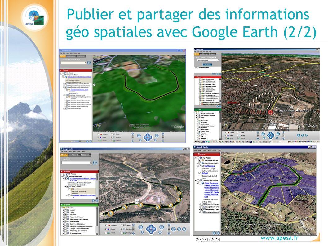 Publier et partager des informations géo spatiales avec Google Earth (2/2)