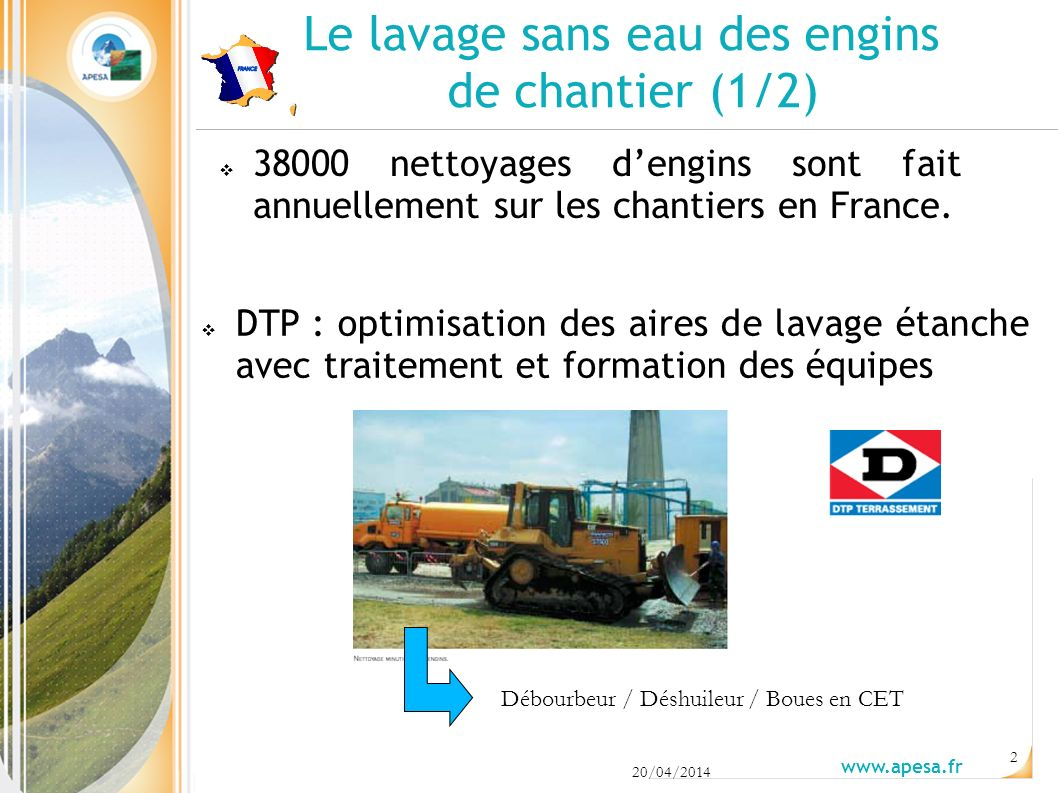 Le lavage sans eau des engins de chantier (1/2)