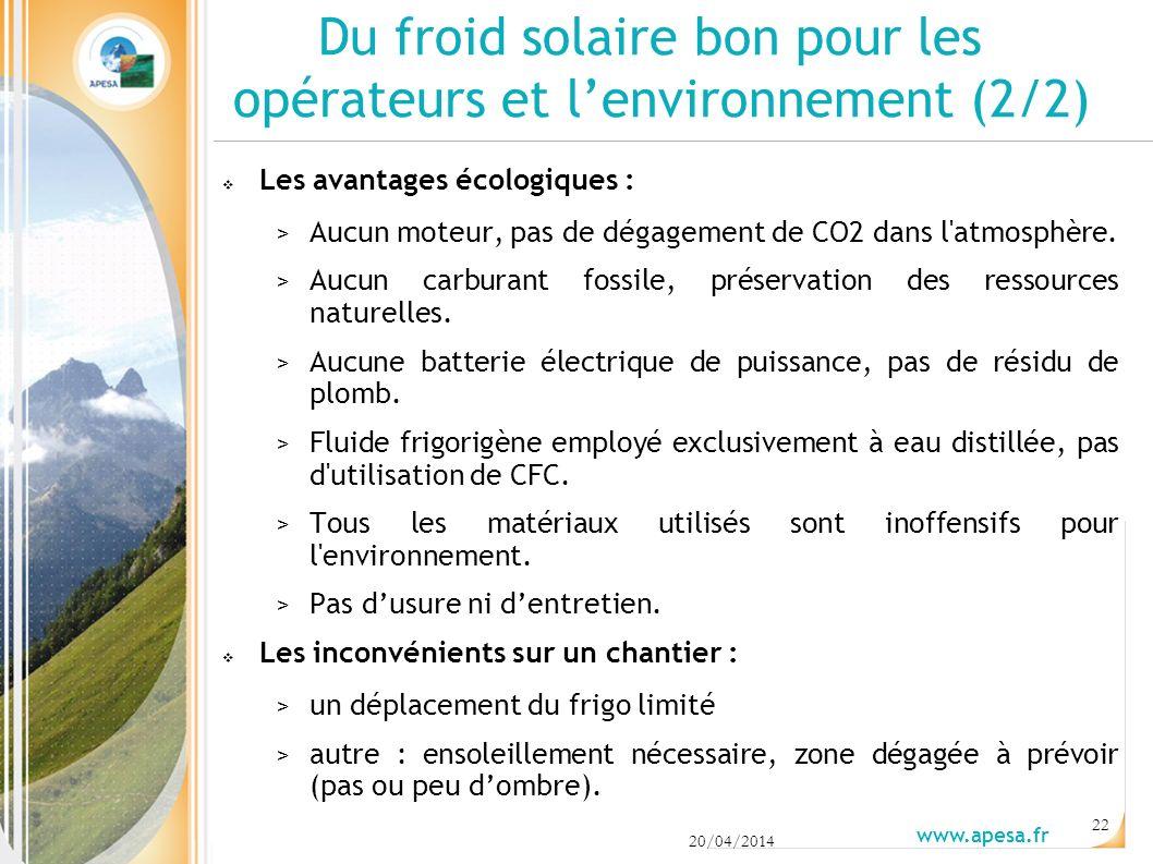 Du froid solaire bon pour les opérateurs et l'environnement (2/2)