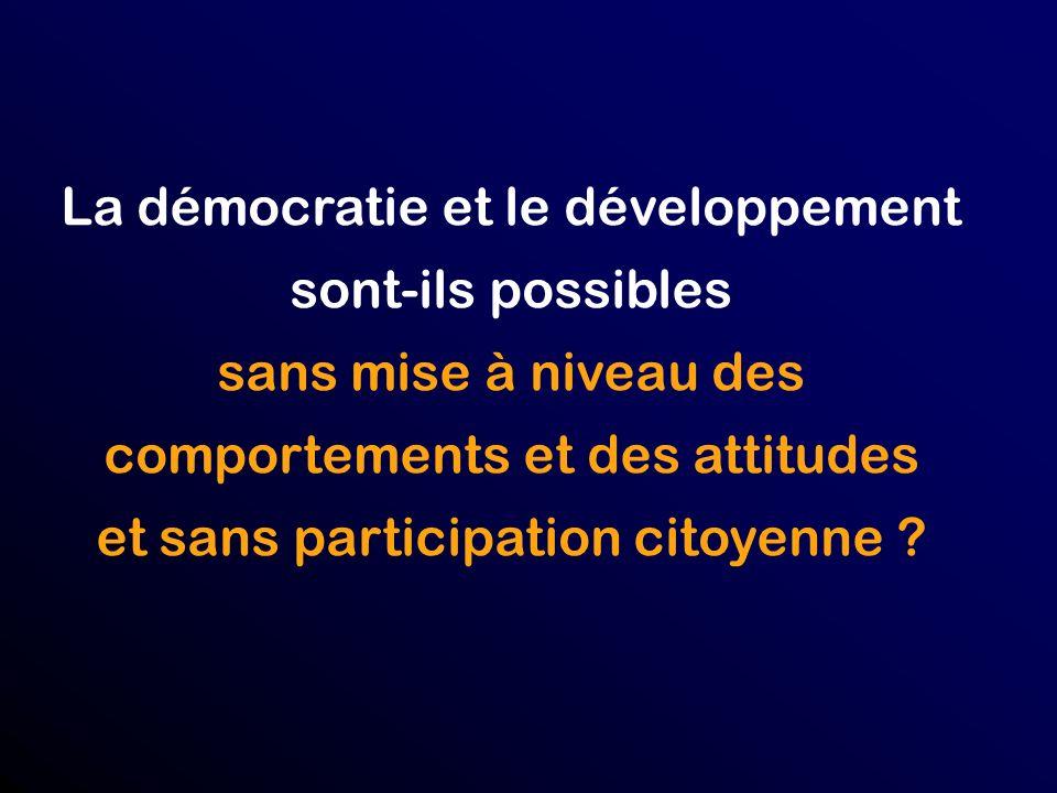 La démocratie et le développement sont-ils possibles