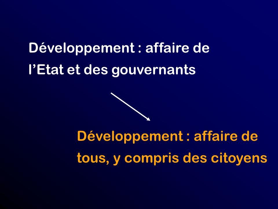 Développement : affaire de