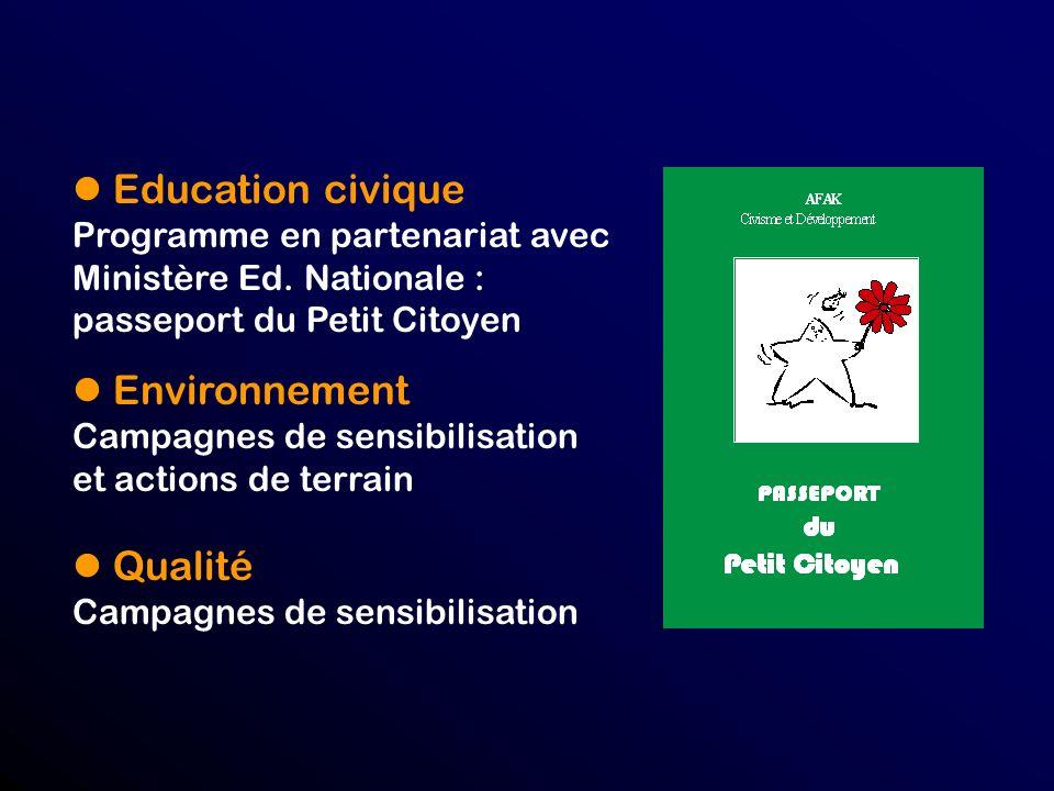 l Education civique l Environnement l Qualité