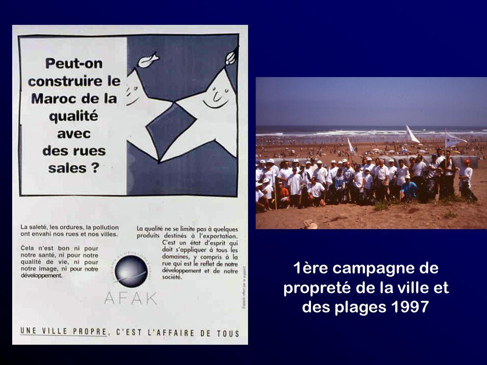 1ère campagne de propreté de la ville et des plages 1997