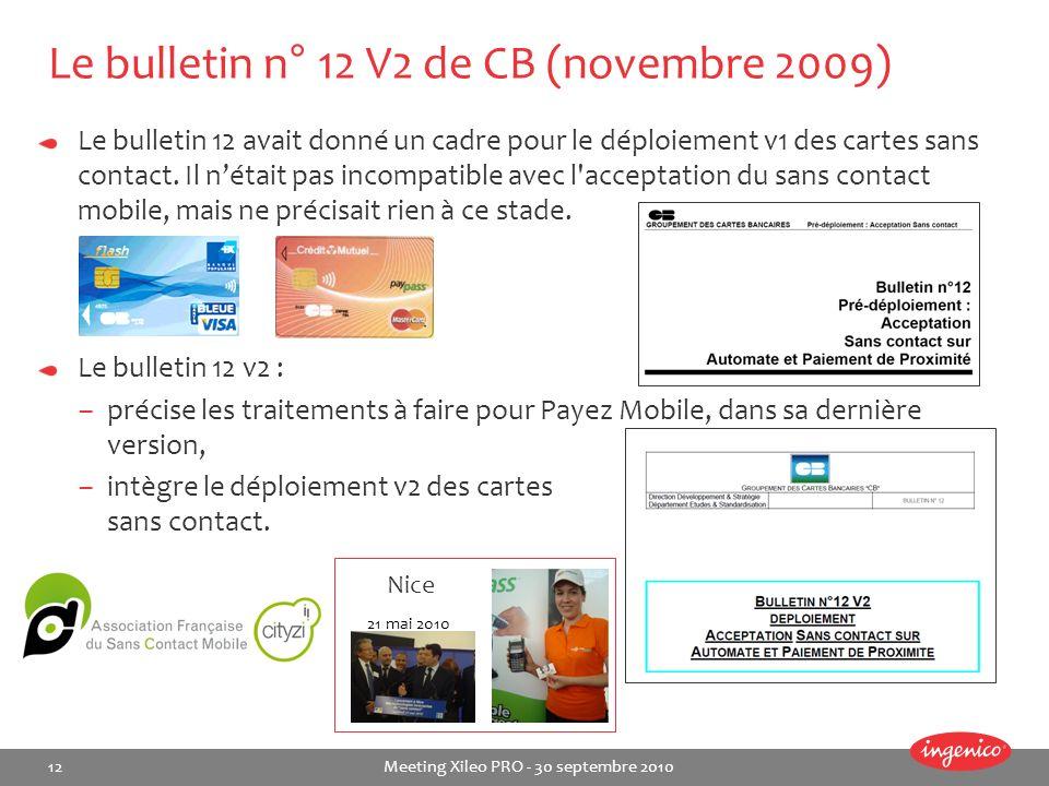 Le bulletin n° 12 V2 de CB (novembre 2009)
