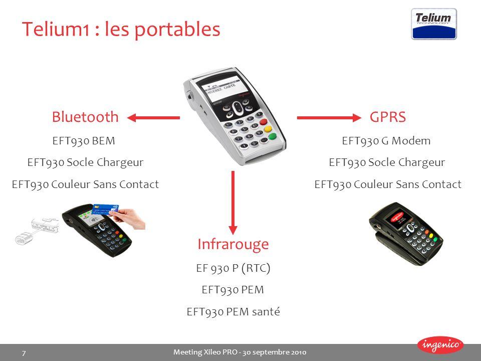 Telium1 : les portables Bluetooth GPRS Infrarouge EFT930 BEM