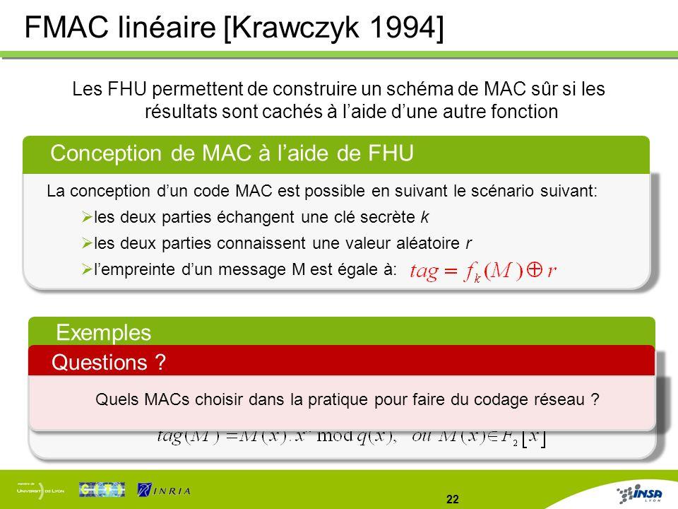 Quels MACs choisir dans la pratique pour faire du codage réseau