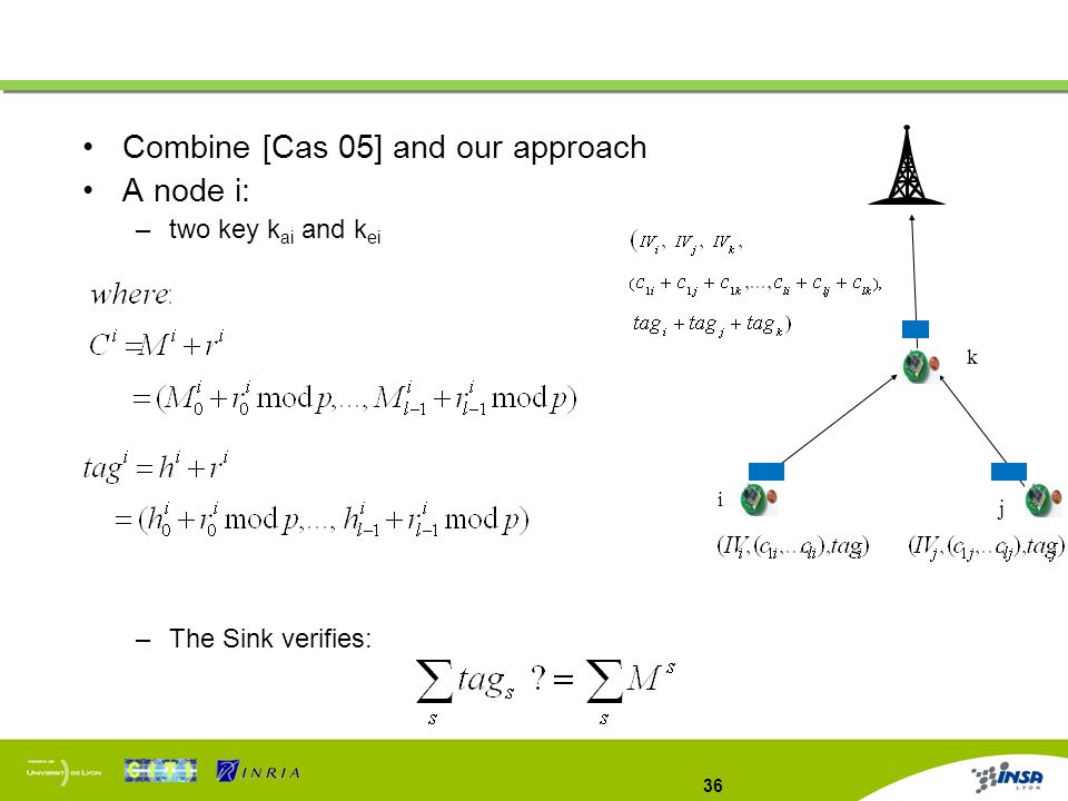 Combine [Cas 05] and our approach A node i: