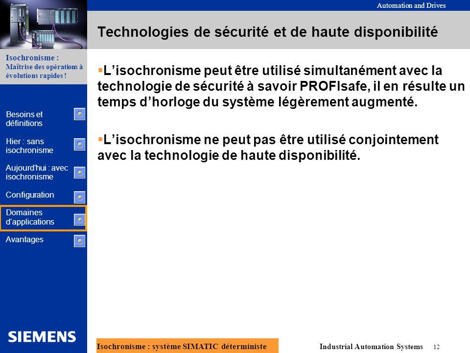 Technologies de sécurité et de haute disponibilité
