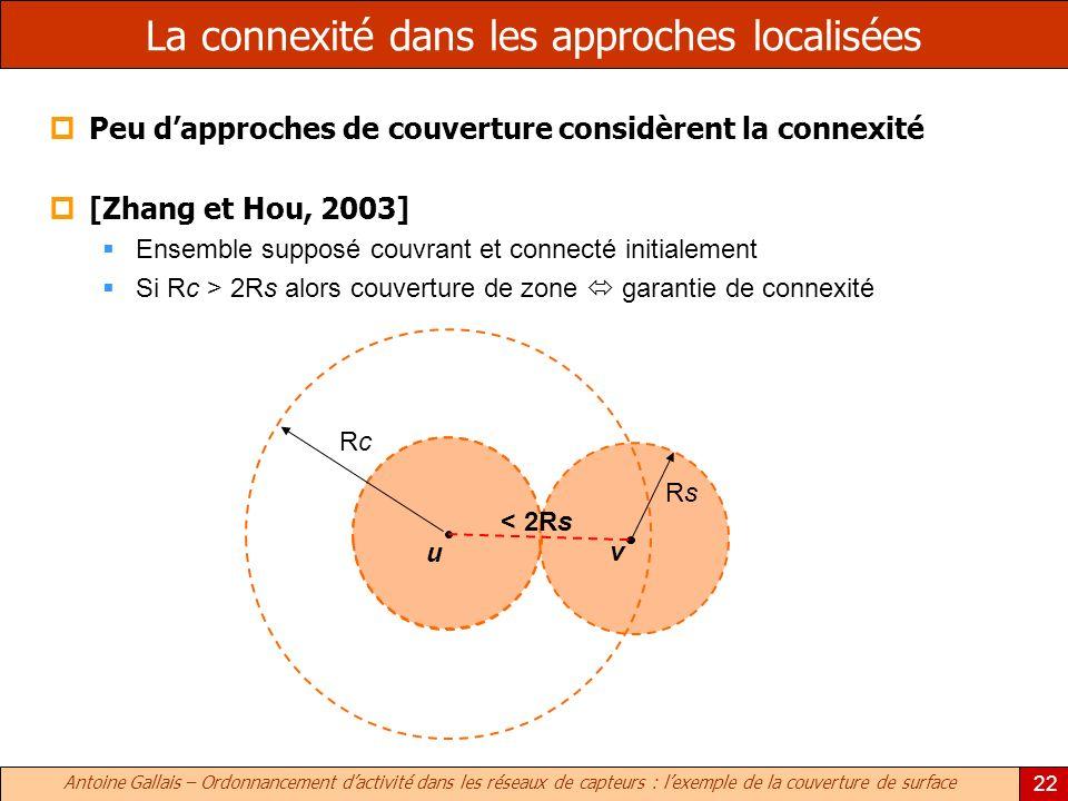 La connexité dans les approches localisées