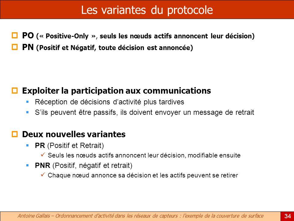 Les variantes du protocole