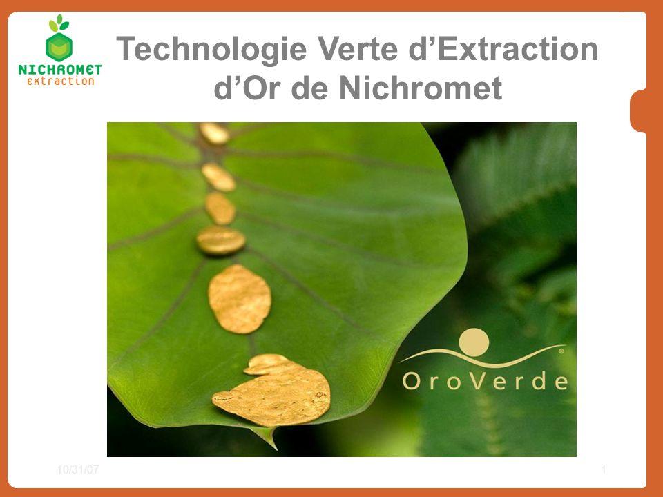 Technologie Verte d'Extraction d'Or de Nichromet